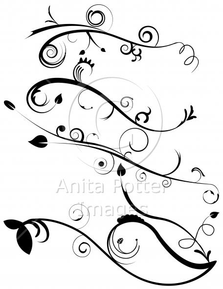Decorative Flourish Set 4