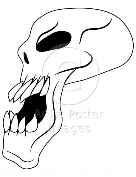Side View of an Evil Skull