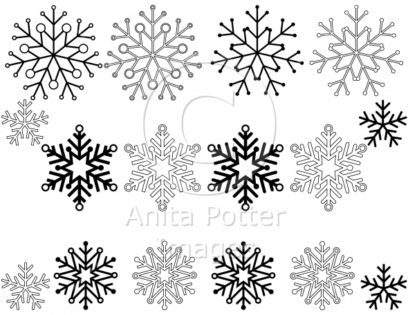 Set of 16 Snowflakes