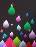 Abstract Raindrops Background