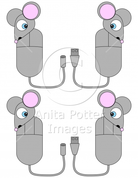 Surprised Cartoon Computer Mouse Set 2