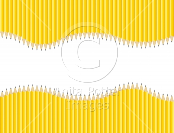 Sharpened Pencils Background with Copy Space