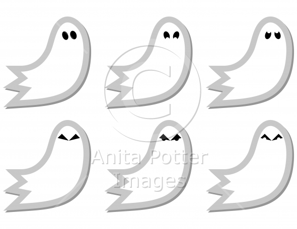 Set of Ghost Stickers