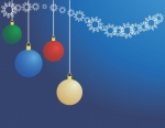 Hanging Ornaments Christmas Background