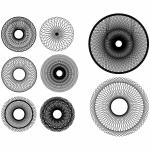 Set of Spirograph Designs