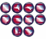 Set of 10 State Buttons Set 4