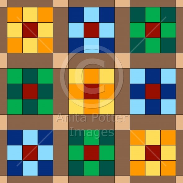 9 Patch Quilt Seamless Background
