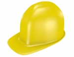 3d Render of a Yellow Safety Helmet