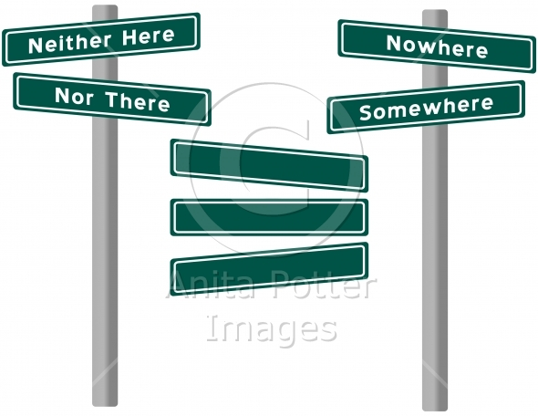 Set of Street Signs