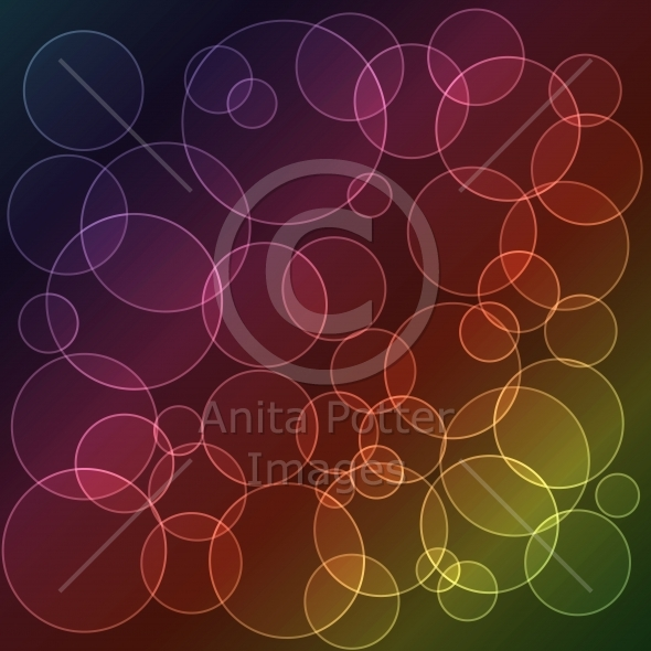 Abstract Rainbow Circle Background