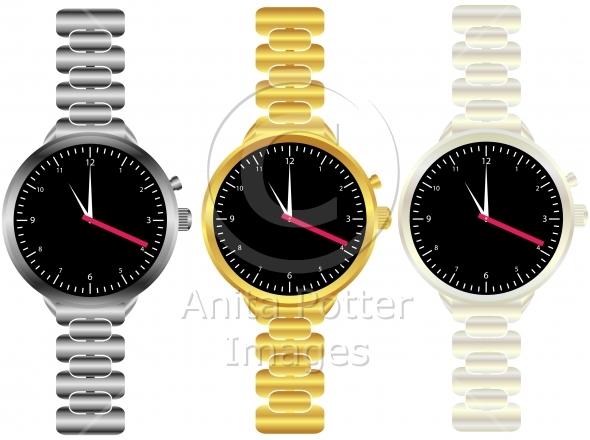 Set of Mens Wrist Watches