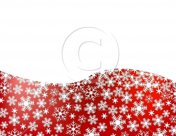 Red Snowflake Background