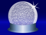 Blue Snowglobe Background