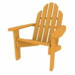 3d Render of an Adirondack Chair
