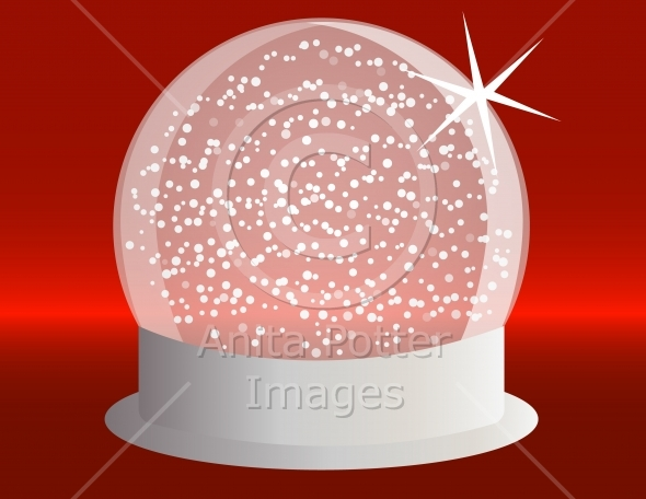 Red Snowglobe Background