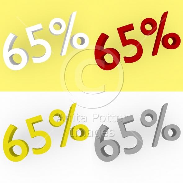 3d Render 65 percent