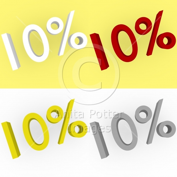 3d Render 10 percent