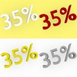 3d Render 35 percent