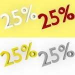 3d Render 25 percent