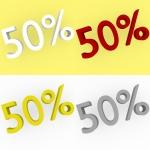 3d Render 50 percent