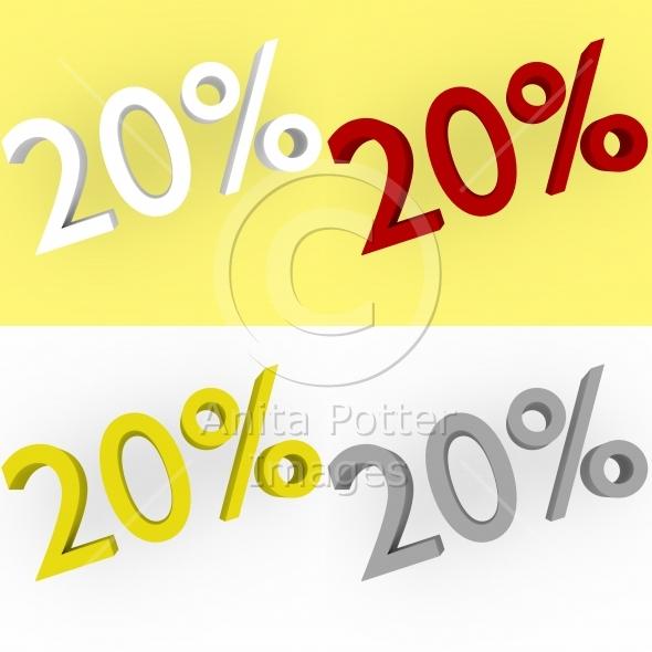 3d Render 20 percent