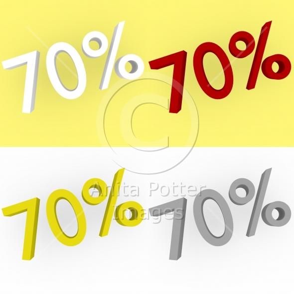 3d Render 70 percent