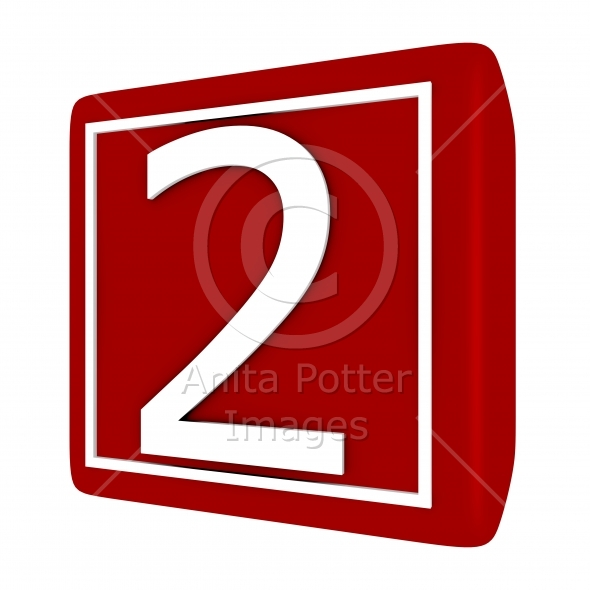 3d Render Font Set 1 Number 2