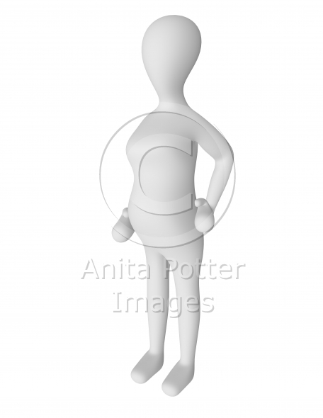 3d Render of a Pregnant Female Character