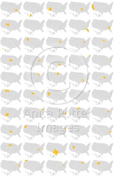 3d Render United States Set