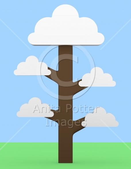 3d Render of a Cloud Tree