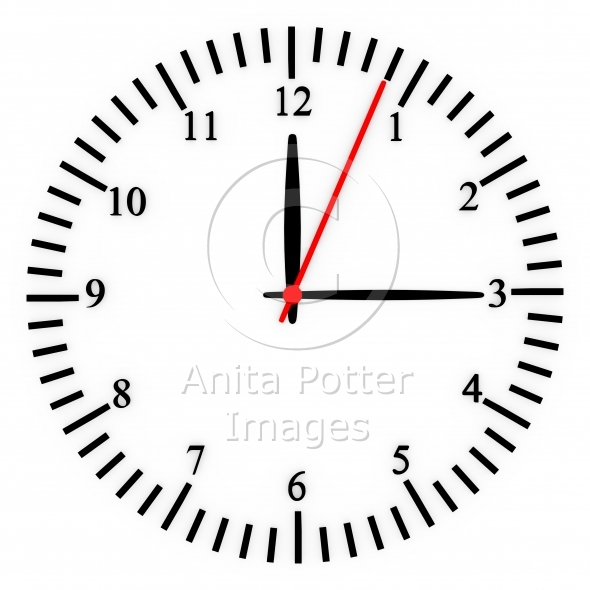 3d Render of a Clock Face