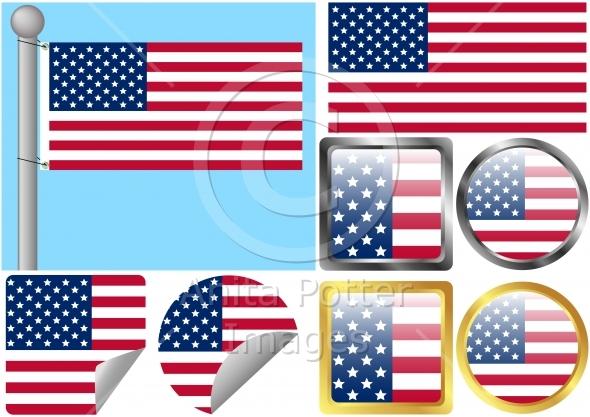 Flag Set United States