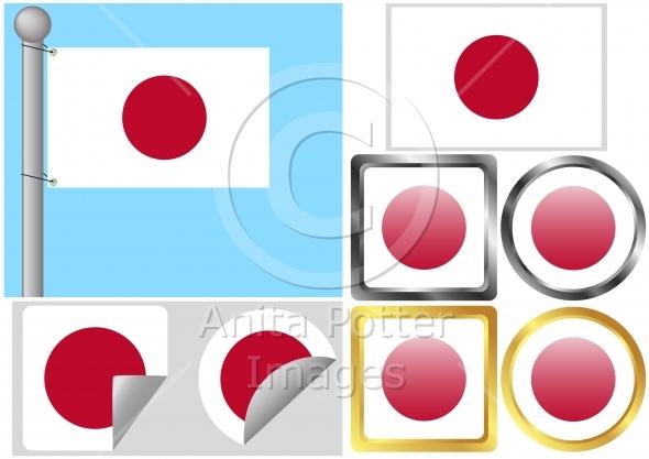 Flag Set Japan