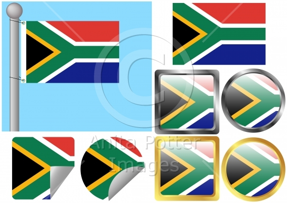 Flag Set South Africa