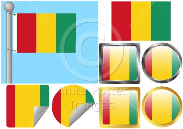 Flag Set Guinea