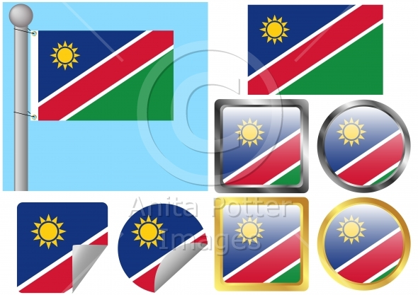 Flag Set Namibia