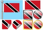 Flag Set Trinidad Tobago