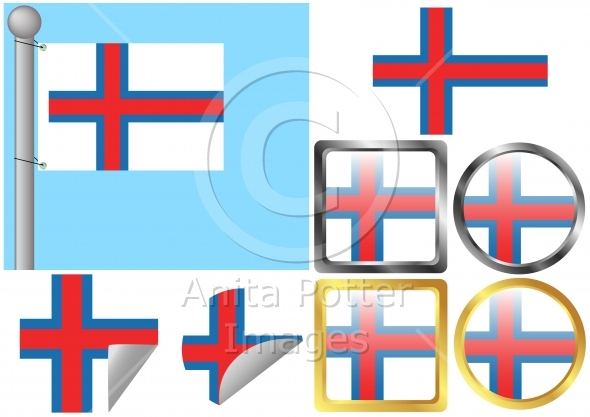Flag Set Faroe Islands