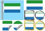Flag Set Sierra Leone