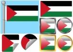 Flag Set Gaza Strip