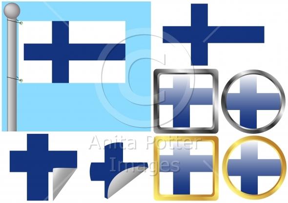 Flag Set Finland