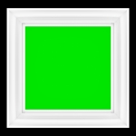 Empty Picture Frame with Green Screen