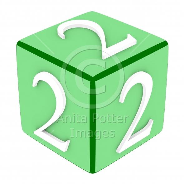 3d Font Cube Number 2