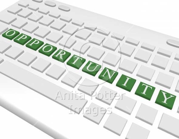 3d Render of a Keyboard Spelling Out Opportunity