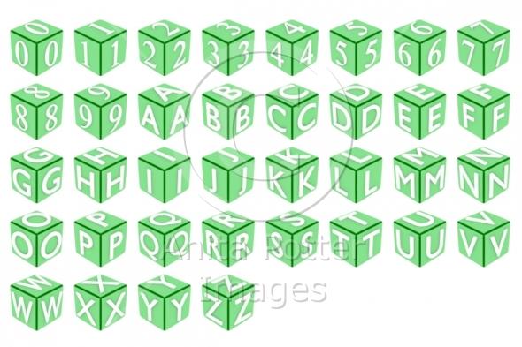 3d Cube Font Set 2