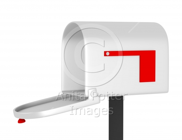 3d Render of an Open Mail Box