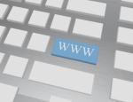 3d Render of a Keyboard Key Saying WWW