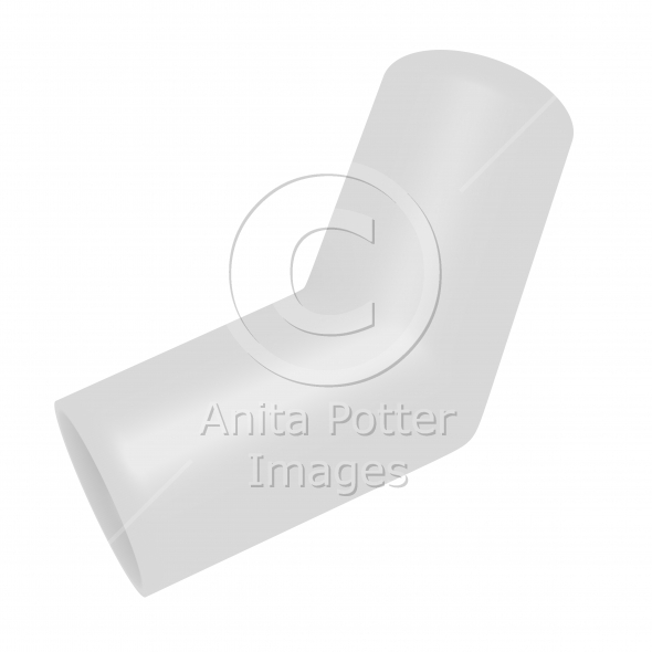 3d Render of a PVC Elbow Joint Pipe