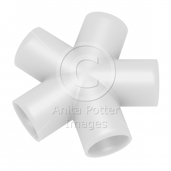 3d Render of a PVC N Joint Pipe