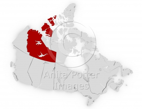 3d Render of Canada Northwest Territories